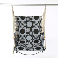 Wholesale Hanging Swings Chairs - Striped Hanging Hammock Rope Swing Seat Chair Canvas Anti Sag Frame Rocking Chairs For Adults Dorm Room Classica 40cl A