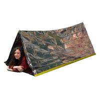 tüp çadırları toptan satış-Argent Acil Barınak Çadır Açık Ultralight Taşınabilir Kamp SOS Barınak Mylar Acil Tüp Çadır İlkyardım Dişli
