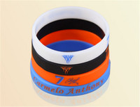 Wholesale Anthony Bangle - New jewelry sports energy wristband silicone balance bangle power super star anthony signature bracelet free shipping