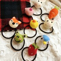 Cute Poke Plush 11 estilo Meninas Acessórios para cabelo Hairbands Cat Fox Elf Ball Animais recheados Brinquedos Headbands Girl Party Elastic Hair Band A7030