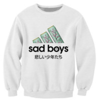 Wholesale japanese teas for sale - 2017 New Sad Boys Sweatshirt Favorite Green Tea Crazy Sweats Women Men Japanese Characters Jumper Fashion Casual Pullovers S XL B2