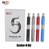 Wholesale Ego Dual Starter Kits - 100% Original Yocan Evolve-D Starter Kit dry herb pen Vaporizer with Pancake Dual Coils 650mAh Battery ego thread atomizer