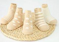 Wholesale Ship Children Socks - free shipping kids sock stripe Cotton children boy VJY
