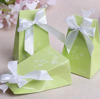 decorações de casamento adoram pássaros venda por atacado-100 pcs Amor Verde Caixa De Doces Do Pássaro com Fita Doce Caixas De Presente Festa De Casamento Decoração Faovrs Novo