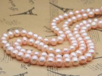 Wholesale 35 inch south sea pearls resale online - Beautiful MM inch south sea Natural pink pearl necklace k gold clasp