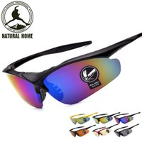 Wholesale Colourful Glasses Frames - [NaturalHome] Brand Design Frame Colourful Lens Sun Glasses Outdoor Sports Cycling Bike Goggles Motorcycle Bicycle Sunglasses
