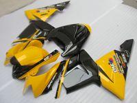 satılık zx kaplama toptan satış-Kawasaki Enjeksiyon kalıplama ZX 10R 2004 için sıcak satış kaportalar 2004 karoser ZX 10R 04 05 siyah sarı kaporta kiti ZX10R TR68