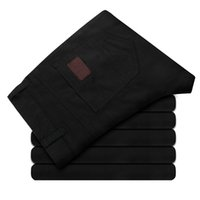 Wholesale Premium Pants - Wholesale- 2017 Premium Cotton Pants Men's Casual Trousers Straight Jeans Slim Trousers Spring And M 068 P40