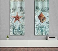 Wholesale Shell Oil Paintings Modern - Oil Painting Canvas Shell and Starfish Wall Art Decoration Painting Home Decor Modern Wall For Living Room