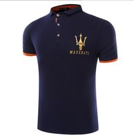 Wholesale Polo Style Shirts - Maserati Crown Polo Shirts Golf Slim Comfortable Designer Formal Polo Shirts with Cotton Blend for Men ,Size M-4XL
