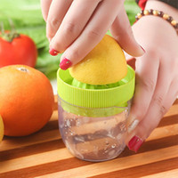 Wholesale Mini Kitchen Gadgets - Juicer Squeezer Mini Manual Juicer Lemon Squeezer Double Layer Press Fruit Extracting Device Kitchen Gadget Cup OOA2214