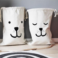 Wholesale Laundry Gold - Wholesale- Practical Toys Storage Bag Bedroom Washing Machines Canvas Storage Bags Shopping Bags Tote Laundry Bags Large Size Top Quality