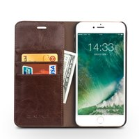Wholesale Handmade Leather Wallets - 080 Handmade wallet leather case for iPhone7 plus 5.5inch,card slot flip cover for iPhone7 4.7inch