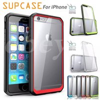 Wholesale Bumper Case Retail Packaging - SUPCASE For iPhone 6 7 plus Hybrid Transparent Hard Back Colorful Bumper Case TPU + PC For Note 5 Cases With Retail Package