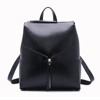 Wholesale Genuine Leather Wear - Travel oil wax leather backpack classic fashion women genuine leather shoulder bag factory outlet direct sale cross body multi wearing metho