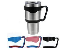 Wholesale Wholesale Black Plastic Cups - Hot Portable Plastic Hand handle Holder Mugs Portable Hand Holder For YETI Rambler Tumbler 20 oz 30 oz Cups Rambler Handle