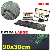 Wholesale Mouse Keyboard Desktop Pc - 90x30cm PC Computer Desktop Mouse Mat Pad For Wireless USB Gaming Keyboard Mouse