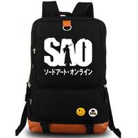 Wholesale Sword Girl Online - Sword Art Online backpack Free shipping daypack SAO schoolbag Cartoon rucksack Sport school bag Outdoor day pack