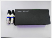 decodificador 12v al por mayor-DC 12V 24V DMX512 Decoder 3 canales 24A DMX Controller para 3528 5050 5630 RGB LED Strip Light Module Lamp Rigid Bar Lights CE ROSH