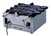 machine à glaçons de poisson achat en gros de-Livraison gratuite 3 pcs crème glacée Taiyaki Maker Machine poisson cône Maker à vendre LLFA