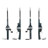 Wholesale Telescopic Fishing Rod Combo - Lixada Folding Mini Fishing Rod Foldable Telescopic Pole Fishing Rod Reel Combo with Fishing Line Carp Fish Tackle Y3860