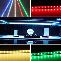 barra de luz rígida led fresca al por mayor-6XHard LED Strip Underwater Light Waterproof IP68 5630SMD Cool Warm White Barra rígida 36LEDs 0.5 metros Tiras de iluminación con 7 colores para elegir