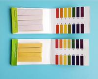 ph gösterge şeritleri toptan satış-Tam Aralık pH Alkali Asit 1-14 Litmus Testi Kağıt Şeritler Test Göstergesi PH Partable 80 Şeritler PH Kağıt Metre Analizörleri