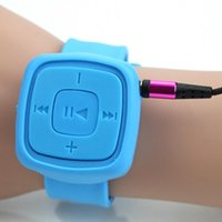No black xmas music - Mini Sport MP3 Music Player Silicone Wrist Watch Bracelet Waterproof MP3 Player With mm Jack TF Card Slot Fashion XMAS Gift