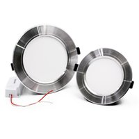 Wholesale recessed lights for sale - Silver Recessed Led Down Lights W W W Dimmable Led Downlights Ceiling Lights AC V CE UL SAA