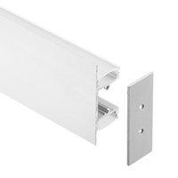 cubierta de perfil de tira de led al por mayor-perfil de aluminio led, 1m por pieza, perfil de extrusión de aluminio LED para tiras LED con cubierta difusa lechosa o cubierta transparente SN1349