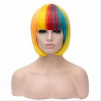 Wholesale Sexy Lolita Wig - Good Huality hair style lolita Multi-Colors wig synthetic wigs cheap straight women sexy wigs natural heat resistant cosplay wig