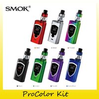 Wholesale Metal Bib - 100% Original SMOK ProColor Starter kit 5.0ml Capacity TFV8 Bib Baby Tank 225W ProColor Mod For Authentic Q2 T8 Coil 2218090