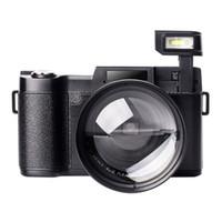 Wholesale rotating camera shot online - Digital Camera Vlogging Camcorder Full HD Camcorders p Megapixels Camera Include MM Wide Angle Close Up Lens
