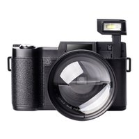 ups camcorder großhandel-Digitalkamera Vlogging Camcorder Full HD Camcorder 1080p 24,0 Megapixel Kamera umfassen 52MM Weitwinkel Nahaufnahme Objektiv