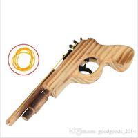 Wholesale Wood Pistol - New arrival kids toys wooden toy gun classic playing rubber band toy pistol guns interesting kids guns toys b773