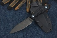 Wholesale Fix Bearings - Russia Bear Head Straight Knife D2 Blade G10 Handle Stonewashed Tactical Camping Hunting Survival Pocket Knife Military Utility EDC Tools