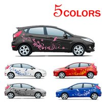 Wholesale Decal Auto - Brand New Auto Modifield Decal Vinyl Stickers Natural Flower Vine Dragonfly for Whole Car Body CEA_30K