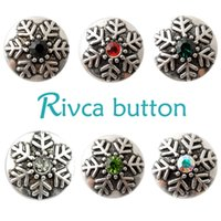 D01245 Rivca Snaps Button Jóias Hot wholesale Estilo de mistura de alta qualidade 18mm Metal Ginger Snap Button Charm Rhinestone Styles NOOSA pedaço