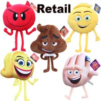 Wholesale Tv Animal Cartoon Characters - New Arrival Emoji Stuffed Animals Plus Doll 2017 Emoji Cartoon Character Plush Toys 20-25cm Kids Stuffed Soft Toy EMS Fast Shipping