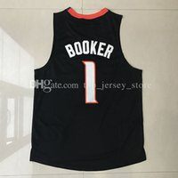 Wholesale New Arrival Clothes Men - New Arrivals TOP 2017 Devin Booker Phoenix jersey 100% Stitched BOOKER #1 Jogging Clothing Mix order new fabrics basketball jerseys