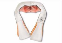 Wholesale Hot Electrical Plug - HOT SALE U Shape Electrical Shiatsu Back Neck Shoulder Massager EU plug and flat plug infrared 3D kneading massage