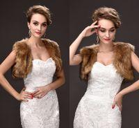 Wholesale Winter Coats Quality Cheap - Free Size Bridal Wraps Cheap Price Faux Fur Winter Wedding Coats High Quality Cheap In Stock Wedding Accessories CPA970