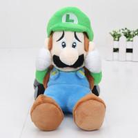 Wholesale Cute Luigi Plush - Cute 22cm Super Mario Luigi Soft Plush Doll Mansion 2 Sanei Scared Plushie Toys Dolls Gifts
