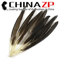 Wholesale pointer led online - Leading Supplier CHINAZP cm inch Best Quality Natural Duck Grey Pointer Wing Feathers for Art Design