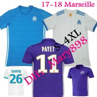 Wholesale 17 Ligue jersey Olympique De Marseille jersey soccer Marseille maillot de foot PAYET Camisetas PAYET GOMIS football shirt