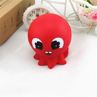 Wholesale Octopus Plush Toy - Creative Fidget Red Octopus Key Ring Anti Autism and ADHD Time Killer By Pressing Stress Reliever Emoji Plush Novelty Toys