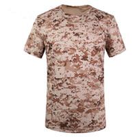 Wholesale Tshirt Wholesalers - Men Summer Military Tactical Tshirt EMERSON Skin Tight Base Layer Camo Running Shirts Quick Dry Polyester ShortSleeve Mandrake Kryptek