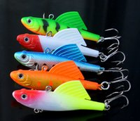 Wholesale Live Bait Jigs - Fishing Lure Lead Wing Fish 6.5cm 16.5g Live Winter Catch Bass Soft Bait Hooks Mandarin Culter