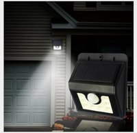 Wholesale Solar Deck Led Light - Solar Lights 8 LED Wall Light Outdoor Security Lighting Nightlight with Motion Sensor Detector for Garden Back Door Step Stair Fence Deck Y