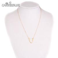 Wholesale Deer Choker - 2017 Deer Antler Necklaces Antler Jewelry Deer Necklace for Woman Gold silver reindeer Design choker Jewelry Women YR29